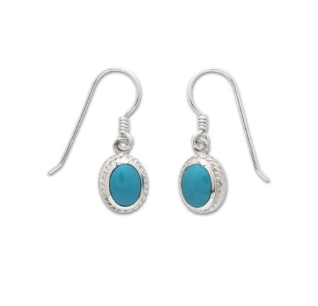 Sterling-Silver Turquoise Drop Earrings