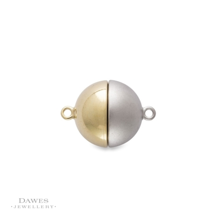 Silver Magnetic Ball Clasp