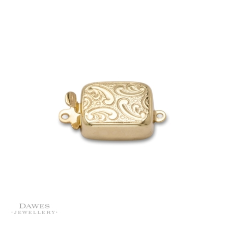 Silver Gilt Engraved Box Clasp For Jewellery