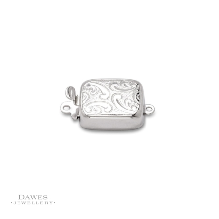 Sterling Silver Engraved Box Clasp