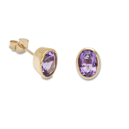 Earrings Stone Set 9ctGold