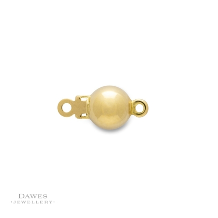 18ct Yellow Gold Ball Clasp 6mm Round