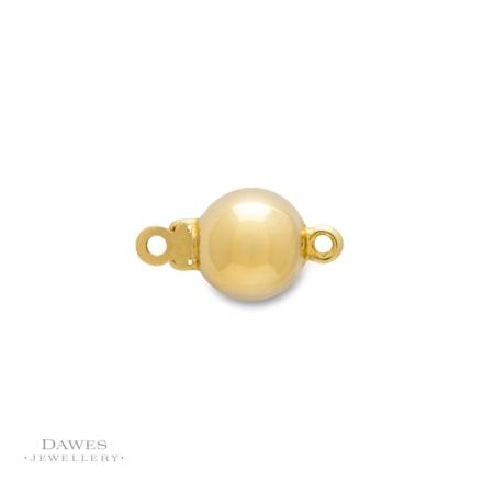 18ct Yellow Gold Ball Clasp 7mm round