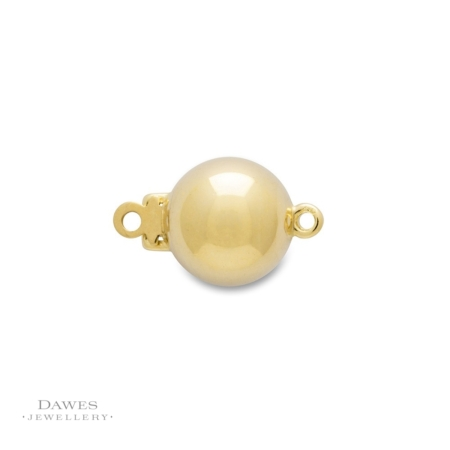 18ct Yellow Gold Ball Clasp 9mm Round