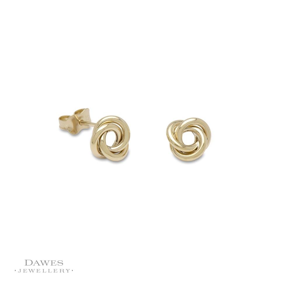 17d9b4dea 9ct Yellow Gold Knot Stud Earrings - Dawes Jewellery