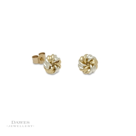 9ct Gold Ribbon Knot Stud Earrings
