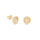 9ct Yellow Gold Tree Of Life Stud Earrings