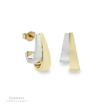 9ct Fancy Two Colour Gold Earrings