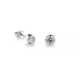 Silver Ice White Cubic Zirconia Stud Earrings 5mm