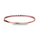 9ct Rose Gold Ruby & Diamond Bangle