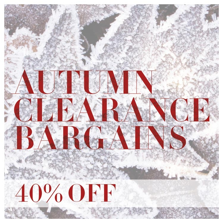 Autumn Clearance Bargains Category 40% off
