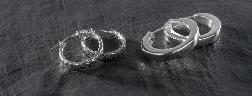 Silver Earrings Category